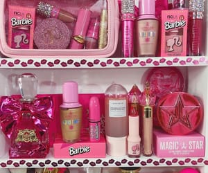 barbie, make up, and pink image