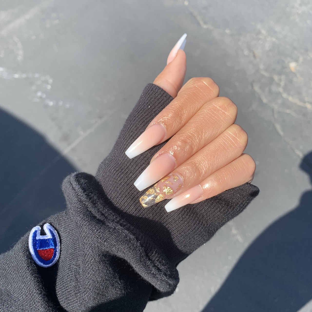 prom nails insta kyrah.b uploaded by Pisces Princess