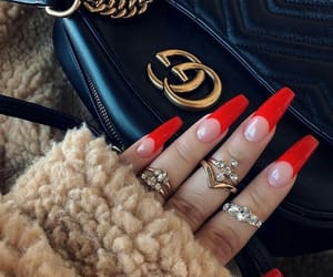 nails, gucci, and red image