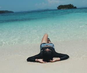 beach, beautiful, and swimming image