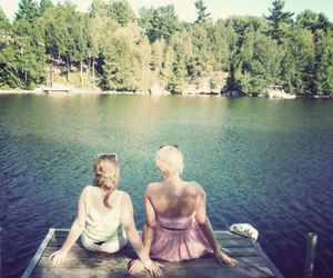 cottage, girls, and pretty image