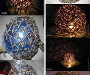 diy, lámpara, and creatividad image