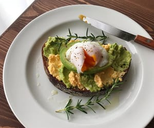 avocado, breakfast, and delicious image