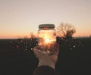 jar, sparkles, and sunset image