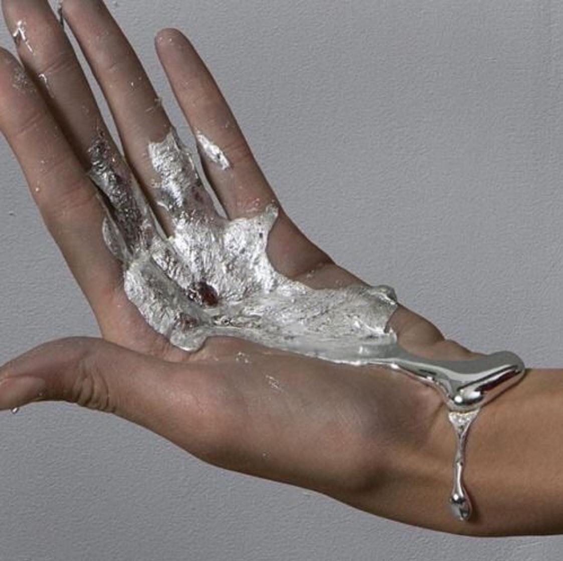 art, chrome, and hand image