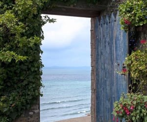 door, sea, and nature image