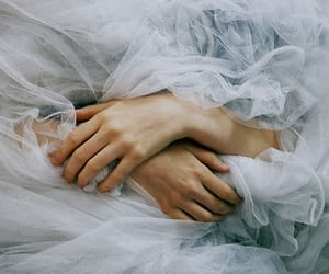 hands, white, and blue image