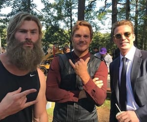 cap, starlord, and thor image