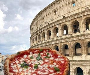 architecture, colosseum, and food porn image