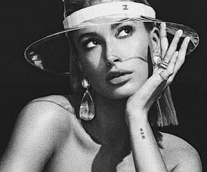 hailey baldwin, chanel, and model image