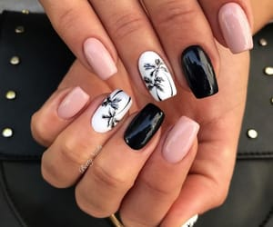 black, nails, and palm image