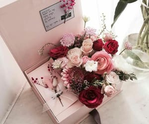 beauty, box, and flowers image