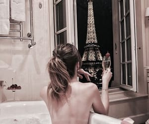 girl, paris, and bath image