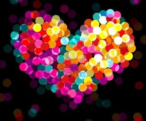 heart, light, and colors image
