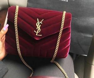bag, fashion, and red image