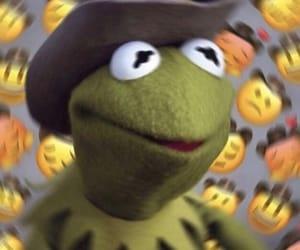 meme, frog, and kermit image