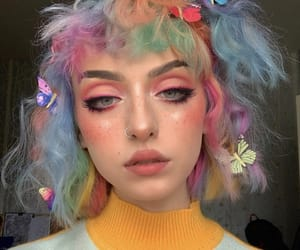 makeup, aesthetic, and hair image