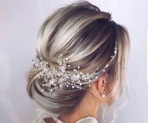 hair, fashion, and bride image
