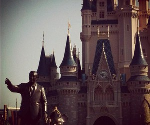 castle, mickey, and disney image