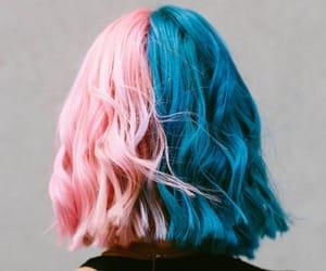 blue hair, hair, and hair dye image