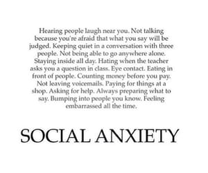 feelings, quote, and social anxiety image