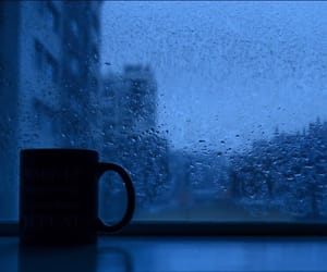 blue, aesthetic, and rain image