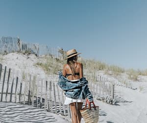 beach, fashion, and blogger image