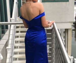 blue, real, and dress image