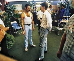 david bowie, Freddie Mercury, and 80s image