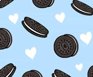 background, blue, and cookie image