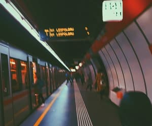 subway, trip, and vienna image