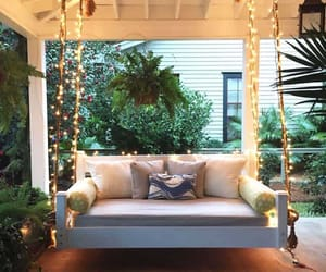 daybed, porch, and outdoor living image