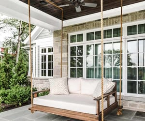 daybed, porch, and porch design image