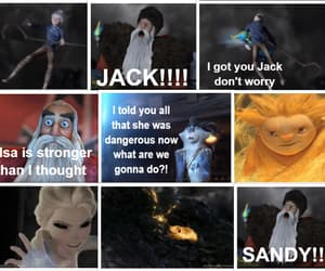 anna, jelsa, and jack frost image