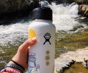 water bottle, hydroflask, and hydro image