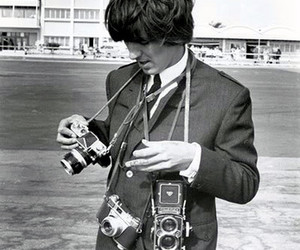 george harrison, camera, and the beatles image