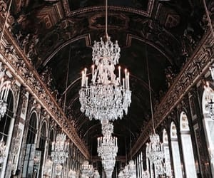 travel, brown, and chandelier image