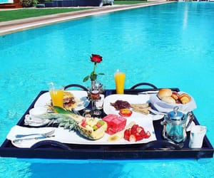 breakfast, pool, and summer image