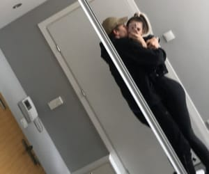 couple, couple goal, and mirror selfie image