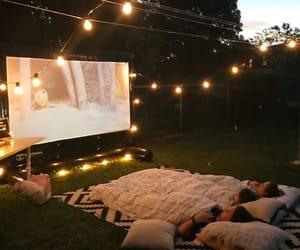 night, summer, and cinema image