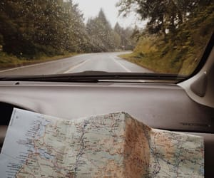 map, car, and nature image