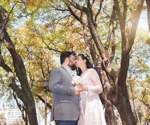 kiss, outdoor, and tree image
