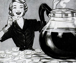 coffee, vintage, and black and white image
