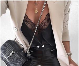 bag, girly, and black image