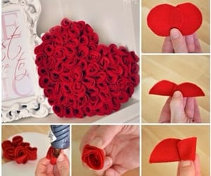 diy, heart, and rose image