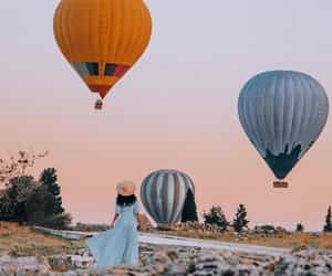 balloons, blogger, and blue dress image