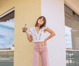 girl, pants, and pink image
