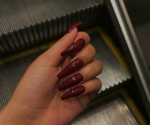 aesthetic, girl, and long nails image
