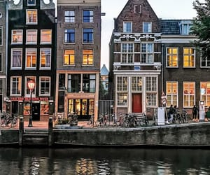 water, amsterdam, and architecture image