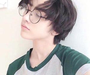boy, girl, and glasses image